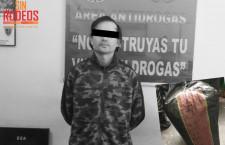 Policía detiene a sujeto que reclamó encomienda con 12 kilos de marihuana
