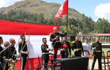 Militares en Cajamarca escenifican histórico juramento de fidelidad a la bandera