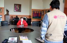 Municipalidad de Cajamarca se une a CÁRITAS para fortalecer programa de ayuda con alimentos a familias de escaso recursos