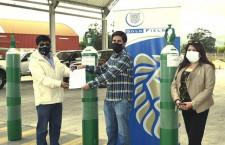 Gold Fields dona balones de oxígeno a colectivo Cajamarca Respira