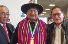 Evo Morales llega al país para juramentación de presidente Pedro Castillo