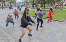 La Zumba en la plaza de Cajamarca