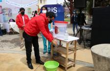 """Regidor Alcántara participa en feria por el """"Día Mundial de lavado de manos"""""""